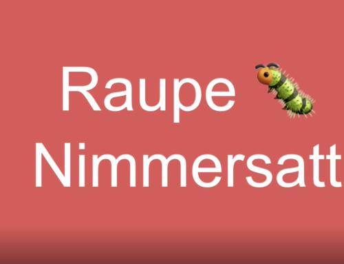 Raupe Nimmersatt – Fädelspiel